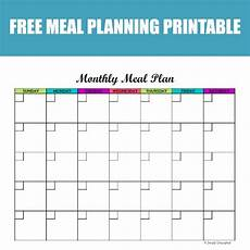 Meal Planning Template Free Free Monthly Meal Planner Printable Calendar Template For