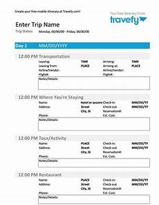 Detailed Itinerary Template 30 Itinerary Templates Travel Vacation Trip Flight