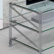 scaffale vetro tilde scaffale porta tv in acciaio ripiani in vetro 100 x
