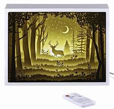 Battery Powered Shadow Box Light Papercut Light Boxes Night Lamp Of Creative Paintings