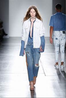 ny fashion week denim looks ii denim trends