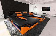 design sectional sofa monza l shaped leathersofa with led