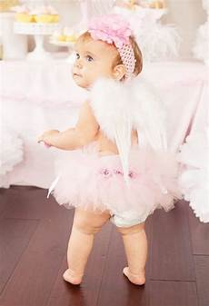 Angles Theme Kara S Party Ideas Little Angel 1st Birthday Party
