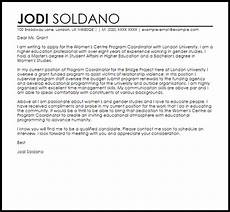 Cover Letter For Project Coordinator Position Program Coordinator Cover Letter Sample Cover Letter