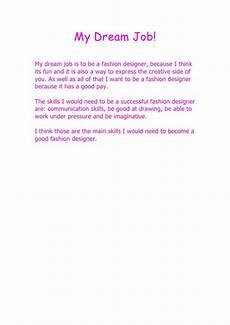My Dream Essay My Dream Job