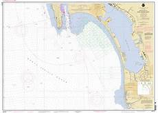 San Diego Bay Depth Chart Approaches To San Diego Bay Nautical Chart νοαα Charts