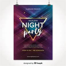 Party Poster Template Free Vector Party Poster Template With Abstract Shapes