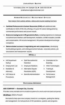 Resume Sample Hr Resume Samples For Experienced Hr Professionals Top