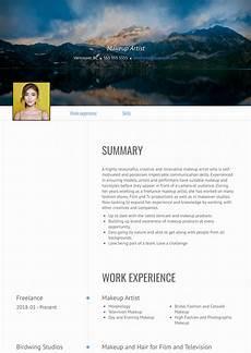 Sample Makeup Artist Resume Makeup Artist Resume Samples And Templates Visualcv