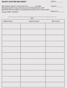 Bid Sheet Template Free 9 Free Bid Sheet Templates And Examples Word Excel