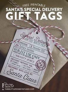 Santa Tag Santa S Special Delivery Gift Tags Design Dazzle
