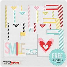 Free Digital Cards Project Life Printable Journaling Cards Freebie One