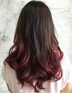Dark Brown Hair Dip Dyed Light Brown 40 Vivid Ideas For Black Ombre Hair