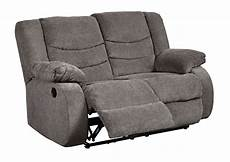 Signature Design By Tulen Gray Reclining Sofa And Loveseat Tulen Gray Reclining Loveseat Signature Design By