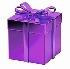 purple gift box transparent background image