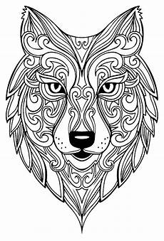 wolf 2 wolves coloring pages