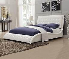 tully white upholstered bed from coaster 300372q