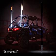 Led Whip Lights For Utv Xprite 5ft White Led Whip Light And Flag For Polaris Rzr