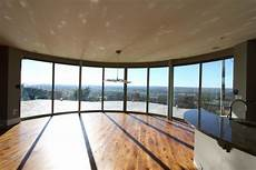 Cubed Glass Windows Curved Sliding Glass Doors With Panoramic Views