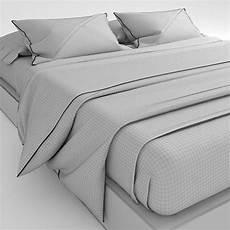 bedclothes grey 3d model max obj fbx cgtrader