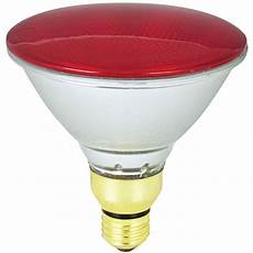 Red Outdoor Flood Light Bulbs Shop Mood Lites 90 Watt Par38 Medium Base Red Outdoor