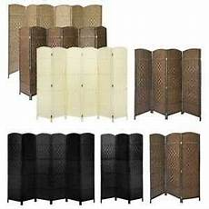 solid weave wicker room divider made privacy screen