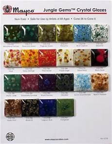 Mayco Crystalites Color Chart Jungle Gem Sampling In 2019 Amaco Glazes Pottery