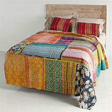 bedding vitage kantha quilt patchwork quilt indian
