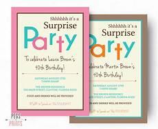 Free Surprise Birthday Party Invitations Surprise Birthday Invitation Printable Surprise Birthday