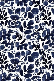 Navy Floral Iphone Wallpaper by Navy Floral By Crystal Walen Beautiful Painted