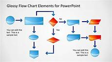 Beautiful Flow Chart Template Glossy Flow Chart Template For Powerpoint Slidemodel
