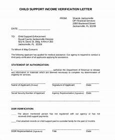 Child Support Letters Free 7 Sample Income Verification Letter Templates In Pdf