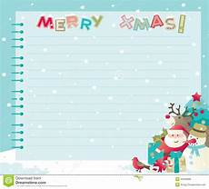 Christmas Letter Backgrounds Christmas Letter With Copy Space Stock Vector