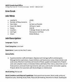 Head Cook Job Description 17 Line Cook Job Description Templates Pdf Doc Free