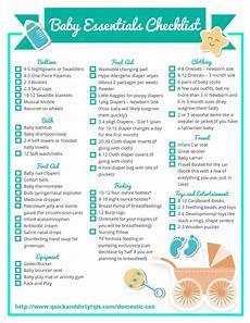 Baby Stuff Checklist Essential Baby Items Checklist