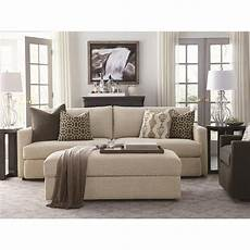 bassett contemporary sofa with track arms wayside