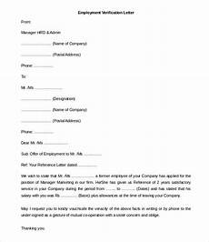 sample letter of employment verification template 11 free employment letter template doc pdf free