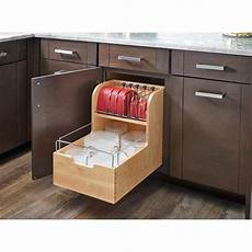 rev a shelf wood food storage container organizer for base