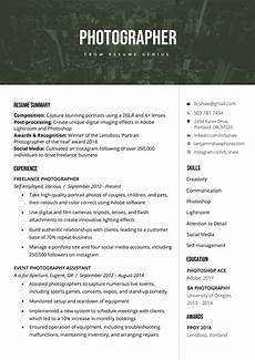 Example Of How To Write A Resumes Photographer Resume Sample Amp Writing Tips Resume Genius