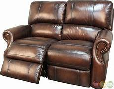 living hawthorne brown leather reclining sofa set