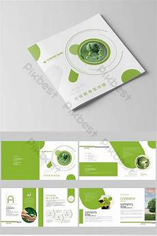 Environmental Brochure Design Complete Set Of High End Style Environmental Protection