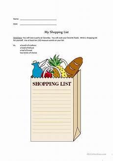 Making A Grocery List Worksheet Shopping List Worksheet Free Esl Printable Worksheets