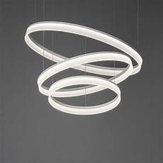Circular Led Light Grok Circ Matt White Triple Circular Led Pendant Light