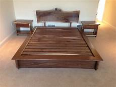 handmade bed and matching stands by saw tooth