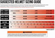 youth atv helmet size chart by age xenith epic youth football helmet xl navy w choice of