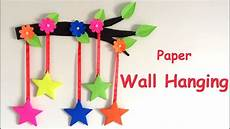 How To Make Chart Paper Decoration Diy Wall Hanging From Paper Paper Craft Card Board