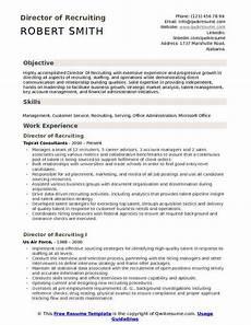 College Recruiter Resume Director Of Recruiting Resume Samples Qwikresume