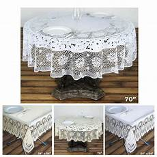 0 6 mil thick lace vinyl eco friendly tablecloth