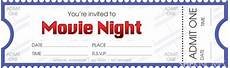 Ticket Making Template Diy Tickets For Movie Night Movie Ticket Template Movie