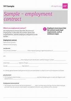 Bill Format For Works Contract 22 Examples Of Employment Contract Templates Word